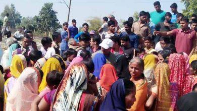 Photo of पलामू : रेल फाटक के लिए ग्रामीणों का हंगामा, तीसरी लाइन का निर्माण रोका