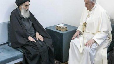 Photo of पोप फ्रांसिस और इराक के शीर्षतम शिया धर्मगुरू ने की ऐतिहासिक बैठक