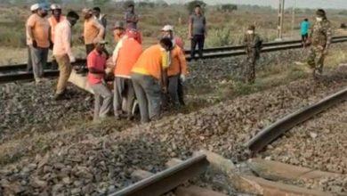 Photo of नक्सलियों ने चक्रधरपुर में उड़ाई रेल की पटरी हावड़ा-मुंबई रेल मार्ग  बाधित