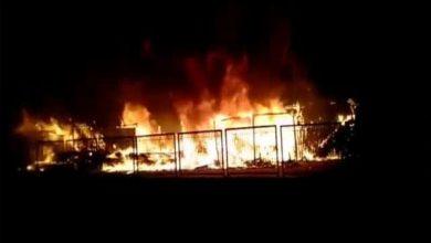 Photo of धनबाद : सब्जी मार्केट में लगी आग, लाखों का नुकसान